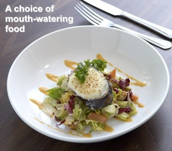 A choice of mouth-watering food