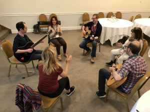 Field & Field, Iain McGIlchrist event. Music workshop with Tywi Roberts.